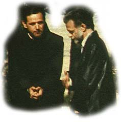 Mark Waterinckx (right) and Fr. Jozo Zovko, then his confessor, in 1984