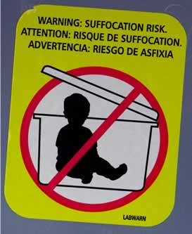 No babies in containers